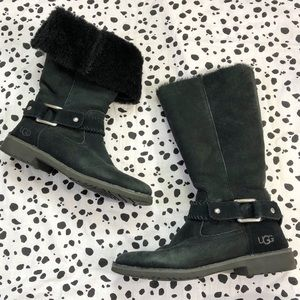 UGG | Braiden Convertible Suede Leather Boots 9.5